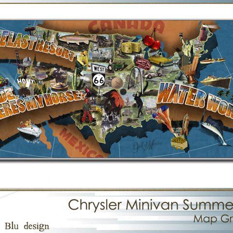 Minivan Map Graphic 41305